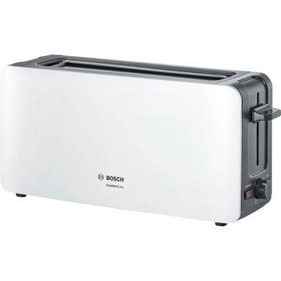 Bosch  Langschlitz-Toaster ComfortLine TAT6A001, max. 1090 Watt, weiß-dunkelgrau