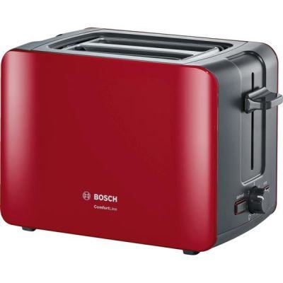 Bosch  Kompakt-Toaster ComfortLine, rot/anthrazit TAT6A114