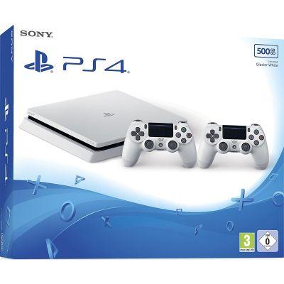 Sony PlayStation 4 Slim 500GB Konsole weiß + 2 ...