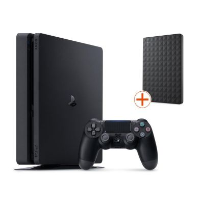 Sony PlayStation 4 Slim 500GB + Seagate Expansi...