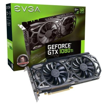 EVGA GeForce GTX 1080Ti SC Black Edition 11GB GDDR5X Grafikkarte DVI/HDMI/3xDP