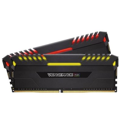Corsair 16GB (2x8GB)  Vengeance RGB DDR4-2666 RAM CL16 (16-18-18-35) Kit