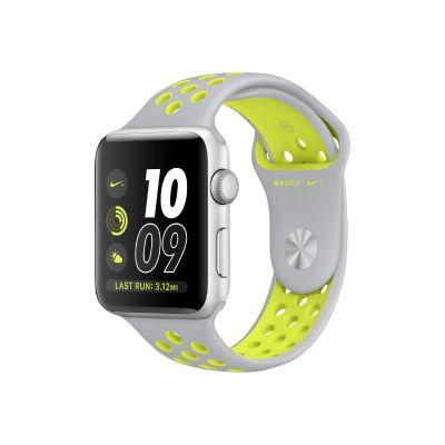 Apple  Watch Nike+ 38mm Aluminiumgehäuse Silber mit Nike Sportarmband Silber/Volt