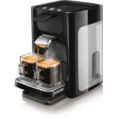 Senseo Philips SENSEO® Kaffeepadmaschine HD7865/60 Quadrante, mit Kaffeeboost, XL Wassertank, schwarz