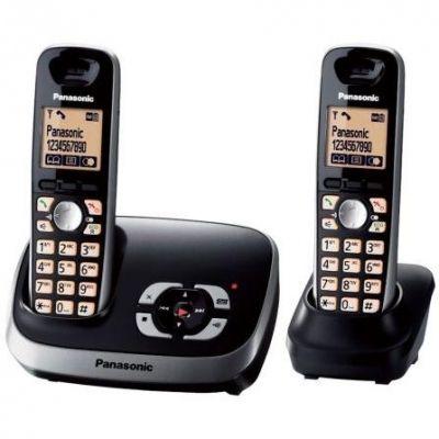 Panasonic KX-TG6522GB Duo DECT schnurloses Festnetztelefon(analog) AB, schwarz - Preisvergleich