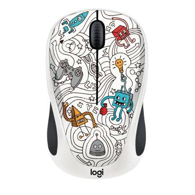Logitech M238 Kabellose Mobile Maus Doodle Collection TECHIE WHITE 910-005053 - Preisvergleich