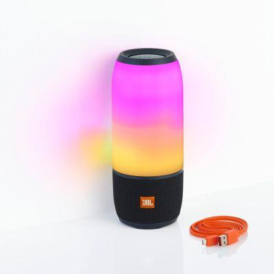 JBL Pulse 3 Bluetooth-Lautsprecher LED-Beleuchtung schwarz spritzgeschützt IPX7