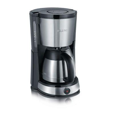 Severin KA 4132 Kaffeeautomat mit Edelstahl-Thermokanne edelstahl-schwarz