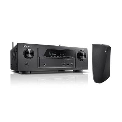 Denon Set:  AVR-X1400H 7.2 AV Receiver +  Heos 3 Multiroom Lautsprecher