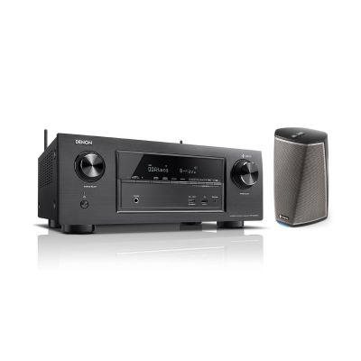 Denon Set:  AVR-X2400H 7.2 AV Receiver +  Heos 1 Multiroom Lautsprecher