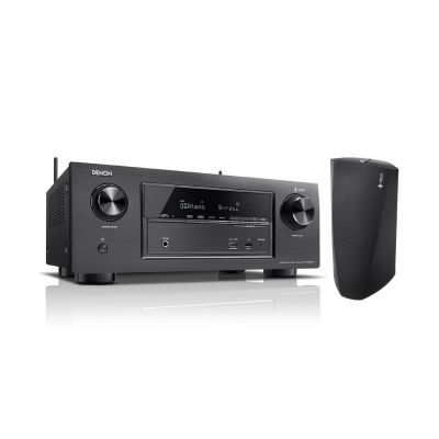 Denon Set:  AVR-X2400H 7.2 AV Receiver +  Heos 3 Multiroom Lautsprecher