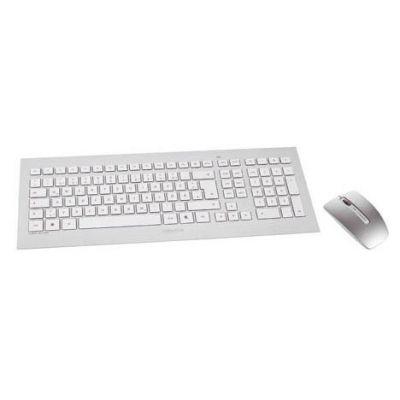 Cherry  DW 8000 Maus-Tastaturkombination gelasert USB kabellos DE Layout silber