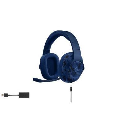 Logitech G433 7.1 Surround Sound Gaming Headset Blau Camo 981-000688 - Preisvergleich