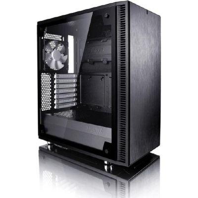 Fractal Design Define C TG ATX Gaming Gehäuse mit Seitenfenster, schallgedämmt