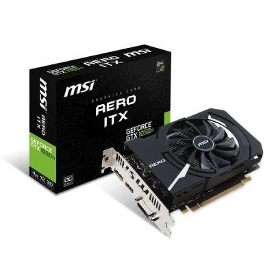 MSI GeForce GTX 1050Ti Aero ITX 4G OCV1 4GB GDDR5 DVI/HDMI/DP Grafikkarte