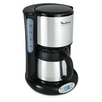 Moulinex FT3628 Thermo Timer Kaffeemaschine Subito Edelstahl Matt/Schwarz