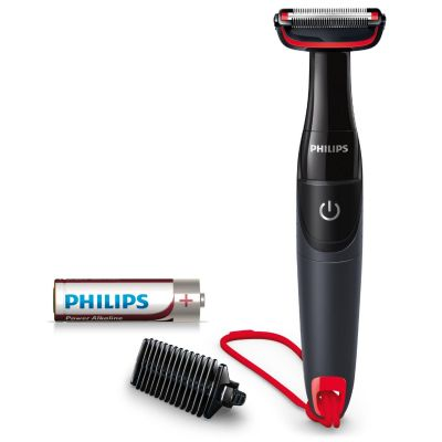 Philips BG105/10 Series 1000 BodyGroom Körperhaartrimmer schwarz/rot - Preisvergleich