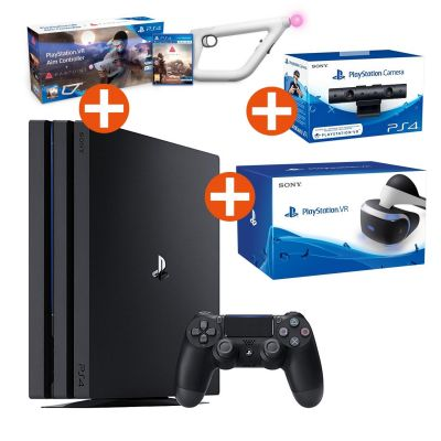Sony PlayStation 4 Pro + Virtual Reality Brille...
