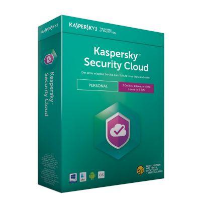 Kaspersky Security Cloud Personal Edition 3 Geräte (Code in a Box) - Preisvergleich