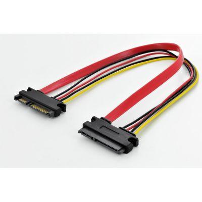Assmann SATA Verlängerungskabel SATA 22-pin (Strom + Daten) St./Bu. 0,3m - Preisvergleich