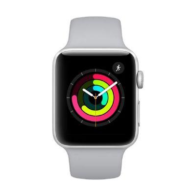 Apple Watch Series 3 GPS 42mm Aluminiumgehäuse Silber mit Sportarmband Nebel