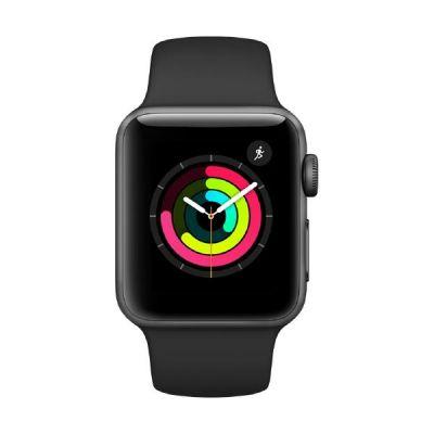 Apple Watch Series 3 GPS 38mm Aluminiumgehäuse Space Grau Sportarmband Schwarz
