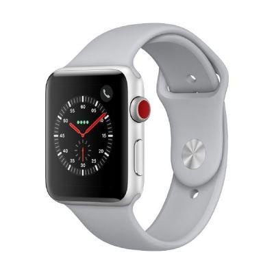 Apple Watch Series 3 LTE 42mm Aluminiumgehäuse Silber mit Sportarmband Nebel