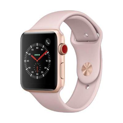 Apple Watch Series 3 LTE 42mm Aluminiumgehäuse Gold mit Sportarmband Sandrosa