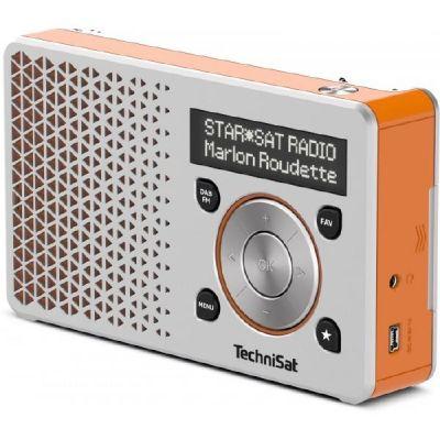 TechniSat DIGITRADIO 1, silber/orange UKW/DAB+ ...