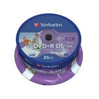 Verbatim 8x DVD+R 8,5GB Double Layer 25er Spindel Printable