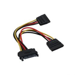 Good Connections SATA Strom-Y-Kabel SATA Bu an 2x SATA St 15cm Bild0