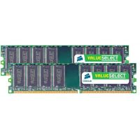 2GB (2x1GB) Corsair ValueSelect DDR2-667 CL5 (5-6-6-18) RAM - Kit