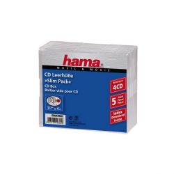 Hama Vierfach CD Leerhülle SlimLine 5er Pack transparent Bild0