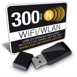Fantec WF-300M2 Wireless-N 300Mbit WLAN USB-Adapter  Bild0