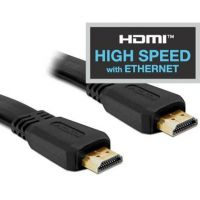 DeLOCK HDMI -High Speed with Ethernet- Flachbandkabel Gold-Stecker 3D fähig 2m