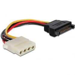DeLOCK Adapter Power SATA 15Pin St. /4pin Molex Bu. 60115 Bild0