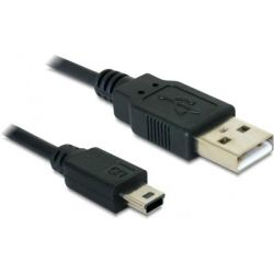 DeLOCK Kabel USB 2.0-A > USB mini-B 5pin 0,70m St/St 82396 Bild0