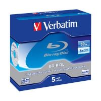 Verbatim 6x BD-R DL Blu-ray Disc 5x 50GB