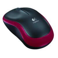 Logitech Wireless Mouse M185 Mouse Red