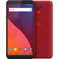 Wiko View Dual-SIM cherry red Android 7.1 Smartphone