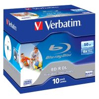 Verbatim 6x BD-R DL Blu-ray Disc 50GB 10er Jewel Case No ID Brand