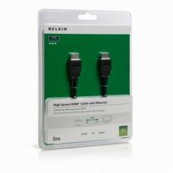 Belkin HDMI Kabel HighSpeed with Ethernet 2m (F3Y020bf2M) schwarz Bild0