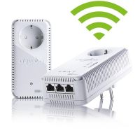 devolo dLAN 500 AV Wireless+ Starter Kit (500Mbit,2er Kit, Powerline+WLAN,3xLAN)