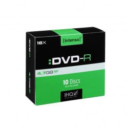 Intenso 16x DVD-R 4,7GB 10er Slim Case Bild0