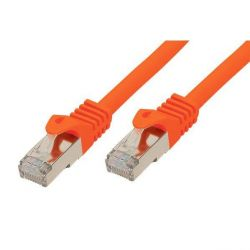 Good Connections Patchkabel mit Cat. 7 Rohkabel S/FTP orange 0,25m Bild0