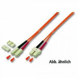 Good Connections Patchkabel LWL Duplex OM2 SC/SC Multimode 0,5m Bild0