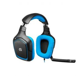 Logitech G430 Surround Sound Gaming Headset Blau 981-000537 Bild0