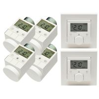 HomeMatic 2x 132030 Funk-Wandthermostat + 4x 105155 Funk-Heizkörperthermostat