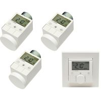HomeMatic 1x 132030 Funk-Wandthermostat + 3x 105155 Funk-Heizkörperthermostat