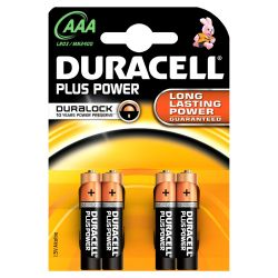 DURACELL Plus Power Batterie Micro AAA LR3 4er Blister Bild0